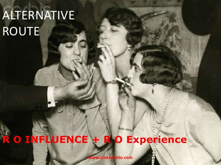 ALTERNATIVEROUTER O INFLUENCE + R O Experience              www.yinkaolaito.com