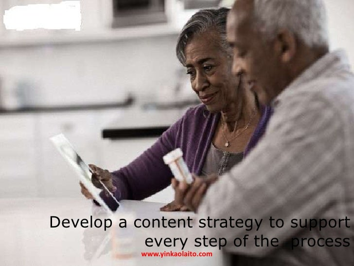 Develop a content strategy to support           every step of the process           www.yinkaolaito.com