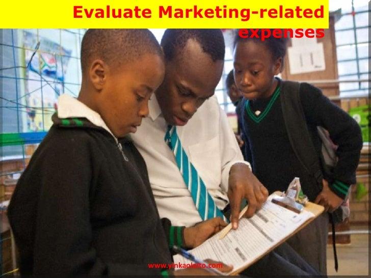 Evaluate Marketing-related                 expenses       www.yinkaolaito.com