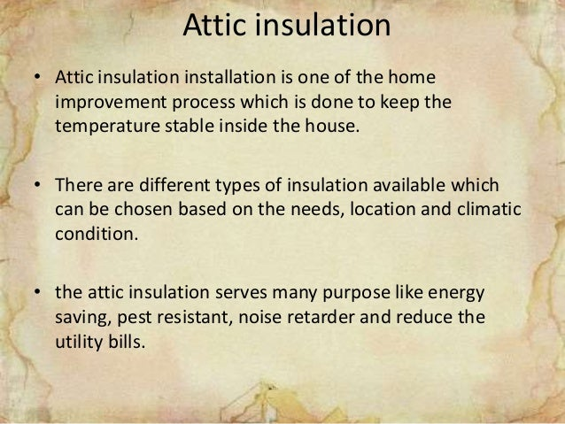 Terminologies to remember before doing attic insulation Slide 2