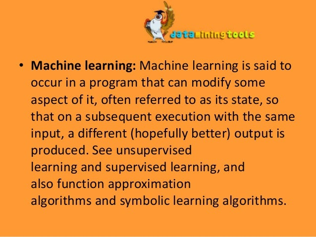 machine learning terminology