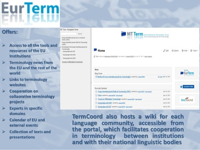 Terminology Management And Social Media In The Terminology Coordinati