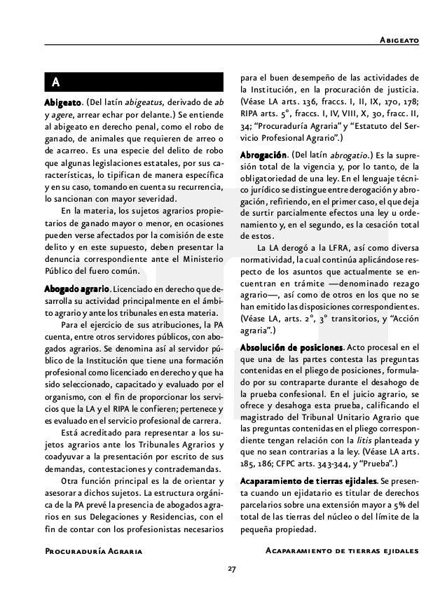 """29 Procuraduría Agraria Acciones serie """"T"""" Acción reivindicatoria de conformidad con la normatividad aplicable. La LA, den..."""