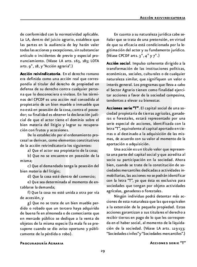 31 Procuraduría Agraria Acta de posesión y deslinde Acto de autoridad La derogada LFRA establecía que en la eje- cución de...