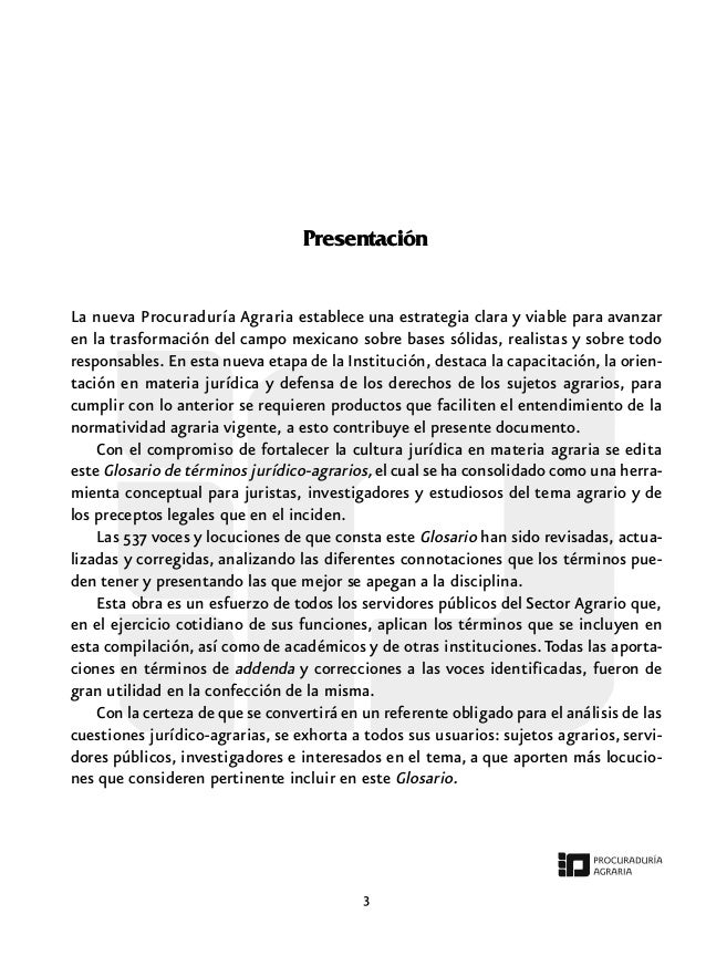 Presentación La nueva Procuraduría Agraria establece una estrategia clara y viable para avanzar en la trasformación del ca...