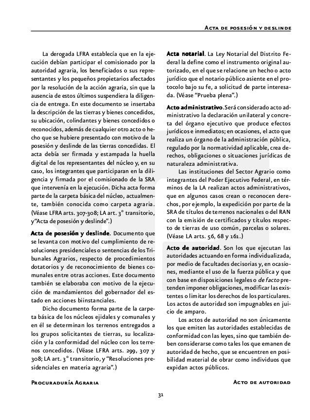 33 Procuraduría Agraria Actuario Acumulación cial. En la materia, en juicio agrario estas actua- ciones se desarrollan den...