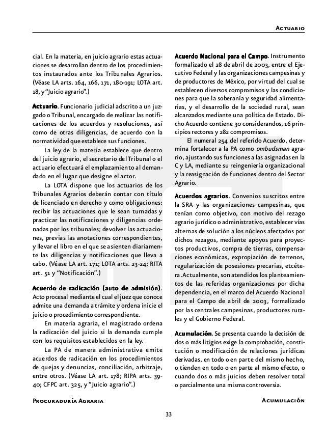 35 Procuraduría Agraria Cabe mencionar que es requisito para que la asamblea autorice el dominio pleno, que las parcelas o...