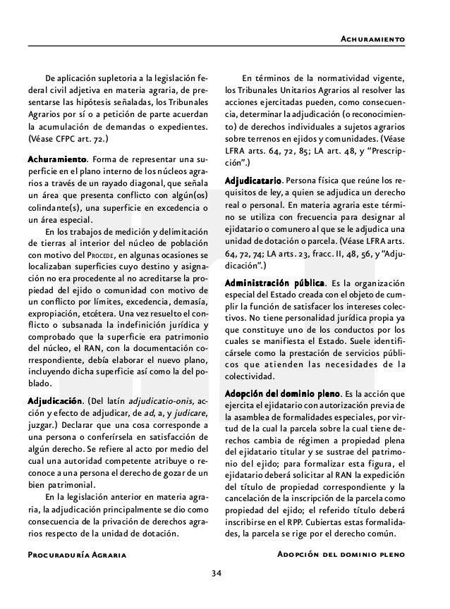 Procuraduría Agraria 36 riberas, estén cruzadas por líneas divisorias de dos o más entidades o entre la República con un p...