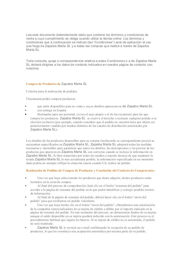 Lea este documento detenidamente dado que contiene los términos y condiciones de  venta a cuyo cumplimiento se obliga cuan...