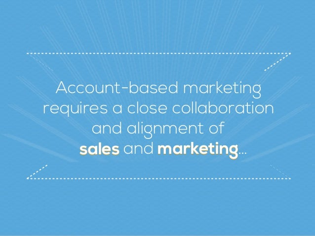 marketingsales Account-based marketing