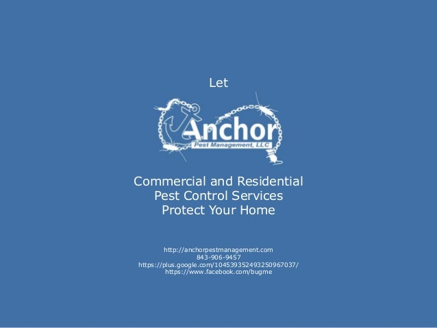 LetCommercial and ResidentialPest Control ServicesProtect Your Homehttp://anchorpestmanagement.com843-906-9457https://plus...