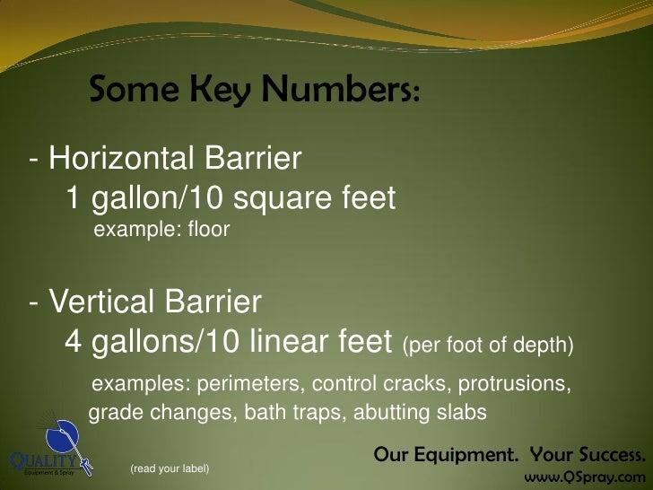 termite job calculations