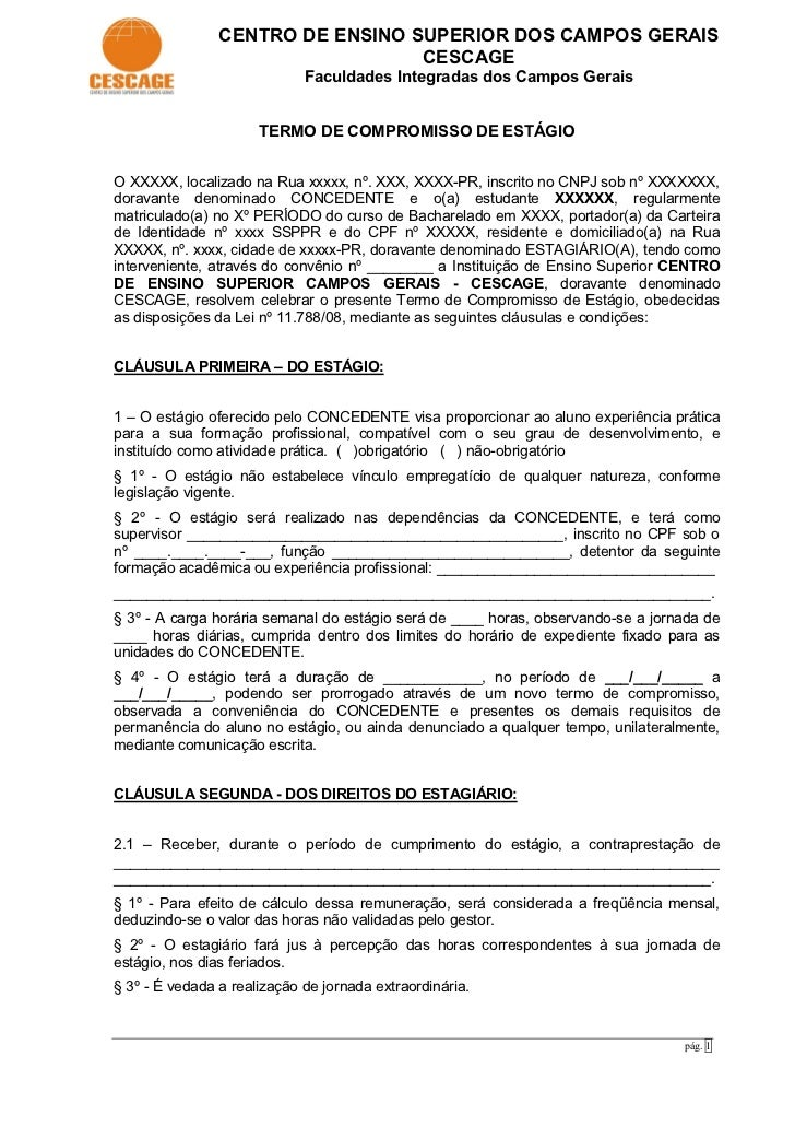 CENTRO DE ENSINO SUPERIOR DOS CAMPOS GERAIS                                  CESCAGE                             Faculdade...