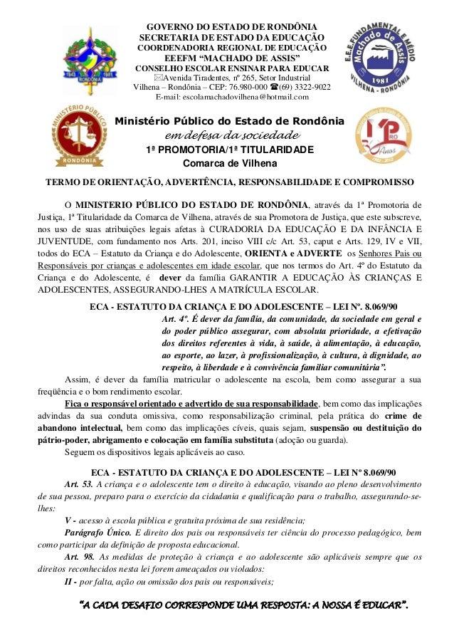 GOVERNO DO ESTADO DE RONDÔNIA                           SECRETARIA DE ESTADO DA EDUCAÇÃO                          COORDENA...