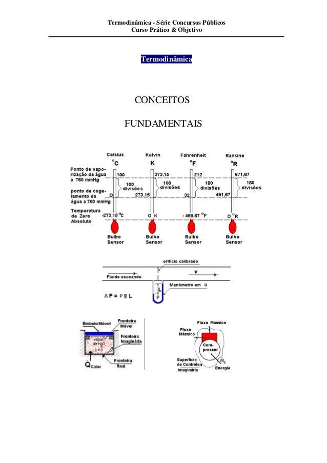 Termodinâmica - Série Concursos Públicos  Curso Prático & Objetivo  Termodinâmica  CONCEITOS  FUNDAMENTAIS