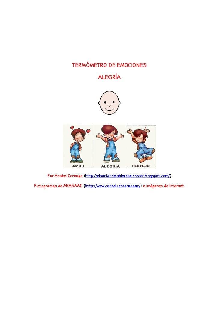 TERMÓMETRO DE EMOCIONES                                 ALEGRÍA      Por Anabel Cornago (http://elsonidodelahierbaelcrecer...