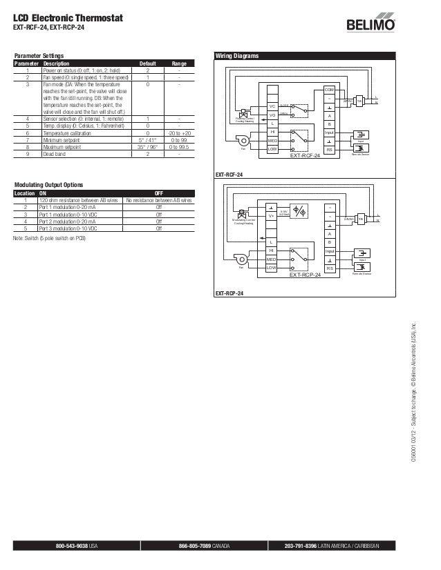 termostato 24 v proporcional belimo ext
