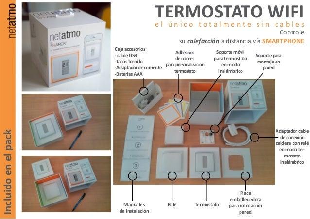 Termostato wifi para controlar calefacci n desde tu smartphone for Termostato caldera wifi