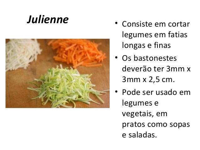 Cortes e prepara es for Cortes de verduras gastronomia pdf
