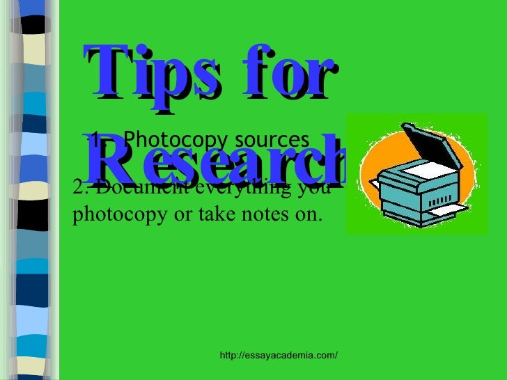 photocopies of sources research paper With the goal of long term preservation of these valuable resources in mind,   when photocopying an item will cause irreparable damage to bindings or papers .