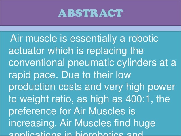 air muscles:-the neo pneumatic actuators, Muscles