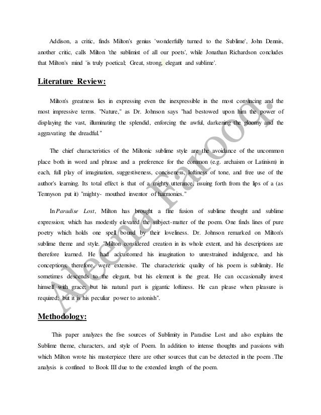 critical analysis essay on paradise lost Character analysis essay format java lost cirith paradise ungol critical essays essay contest for high school students 2014 and 2016.