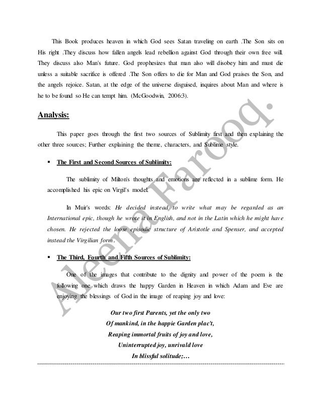 how to write an introduction in paradise lost essay paradise lost book report essays term papers
