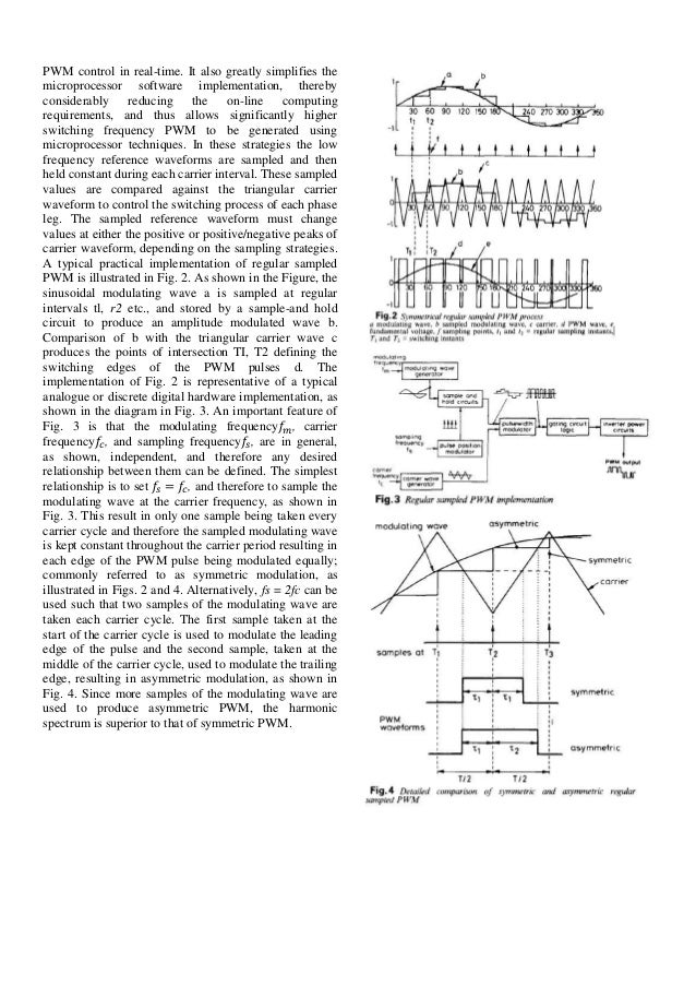 thesis on pwm techniques Modulation techniques for full bridge inverter in this paper,  (pwm) the pwm technique involves generation of a digital waveform.