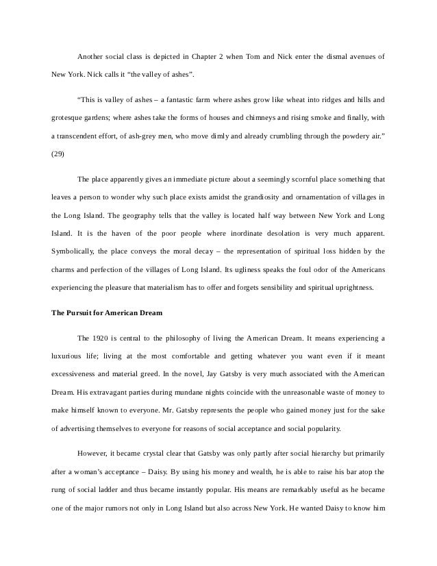 the great gatsby term paper in british and american literature 14