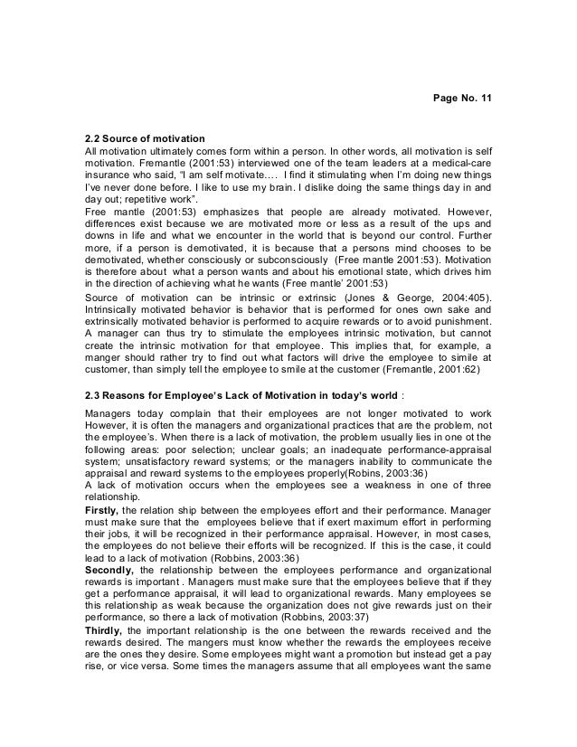 employee motivation thesis Modelling employee motivation and performance by darren james elding a thesis submitted to the faculty of engineering of the university of birmingham.