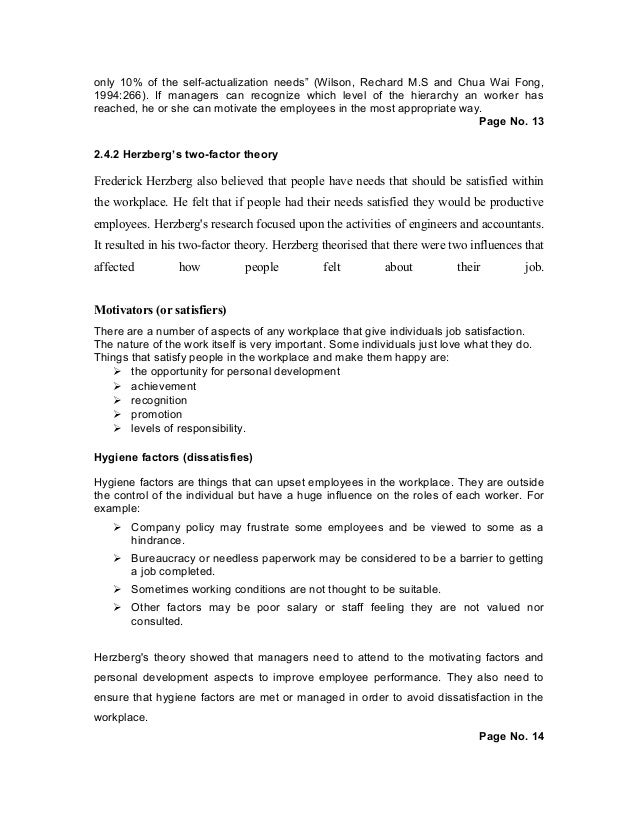 thesis on employee motivation What is your personal motivation for this study sketch the structure (content in each chapter) of the thesis literature review position your work vis--vis related.