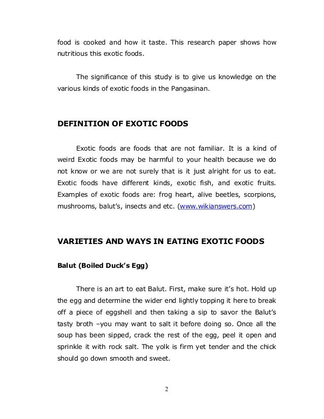 Food term paper
