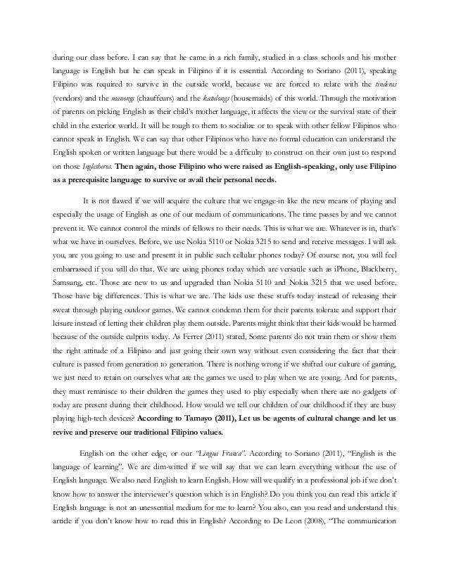 Topic: filipino values term paper