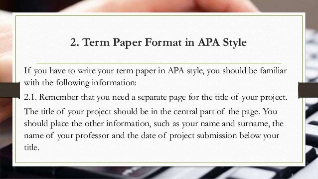 term paper sample format