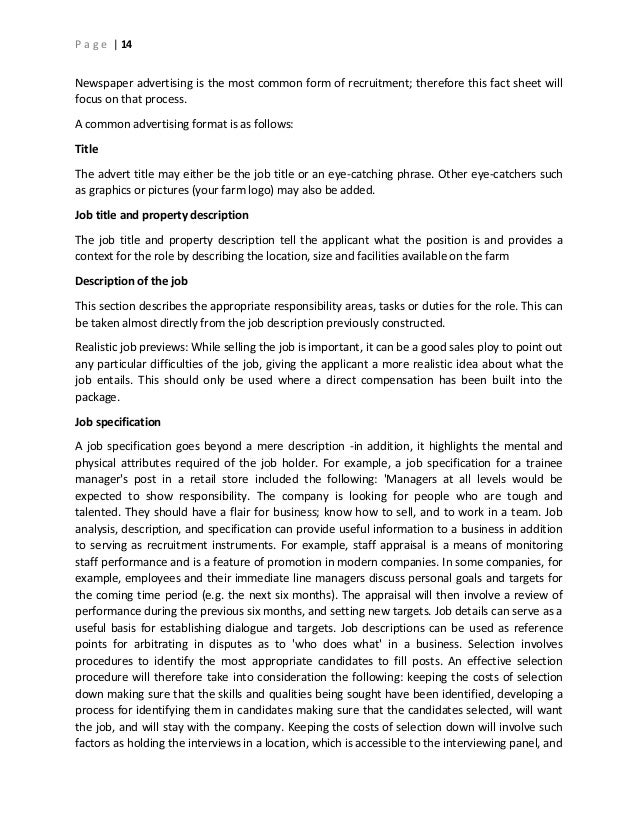 term paper on recruitment and selection Free selection process papers, essays powerful essays: recruitment and selection in business - recruitment and selection in business.