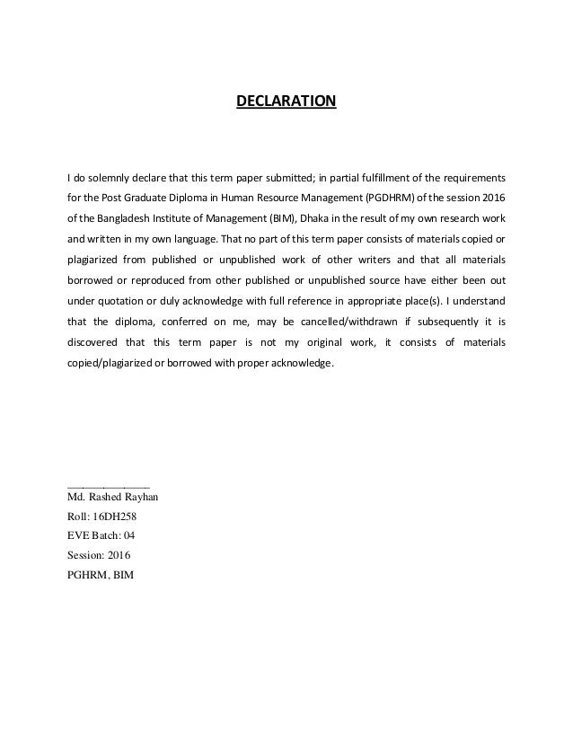 term paper on recruitment and selection process Here is a project on recruitment & selection process yenjvoy advertisements.