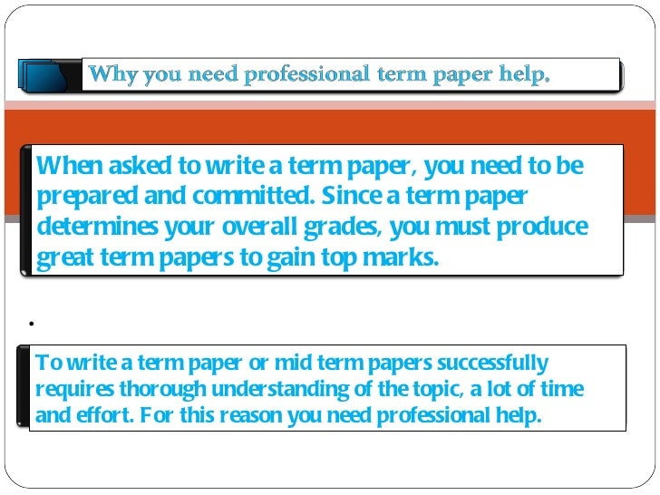 Best term paper writer