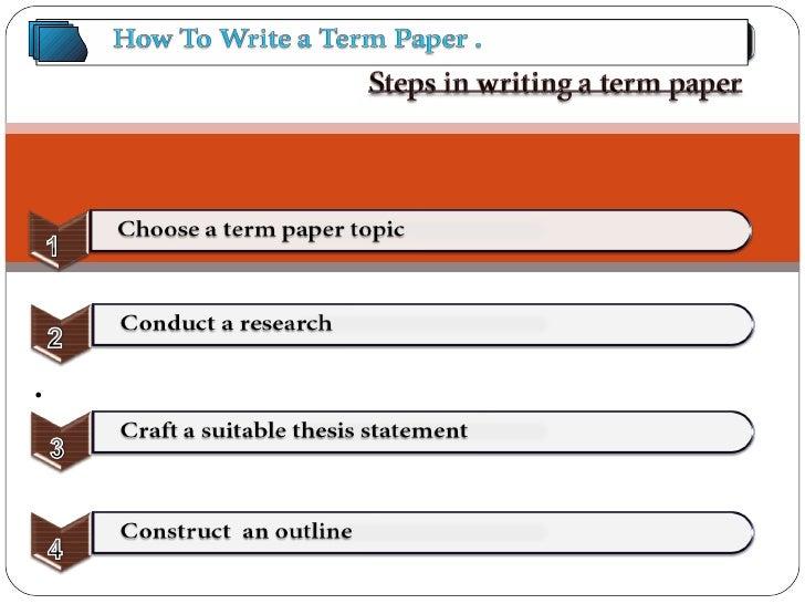 Term paper writing job