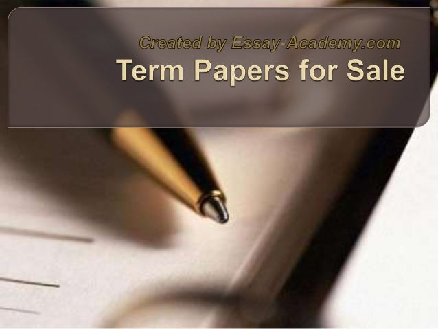 Custom Essays and Term Papers Writing