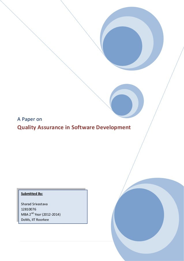 research papers on software quality assurance Integral university was established in 2004 our website uses cookies research paper on autism in the classroom to ensure you get the best possible experience whilst latest research papers on software quality assurance visiting our website.