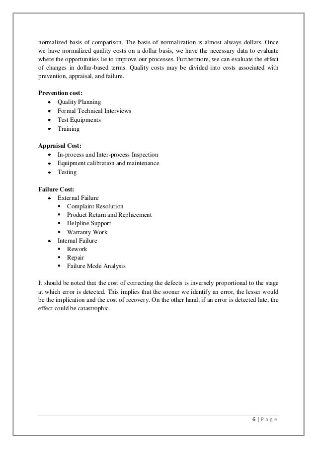 quality assurance term paper Quality assurance is the responsibility of the quality assurance department the mission of a quality assurance department is to provide an effective and efficient quality assurance system and counsel for the operational units.