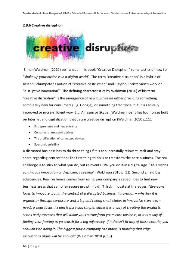 term paper on innovation Any journals or books which i should use for my term paper especially i have to  check different methods of business model innovation like business model.