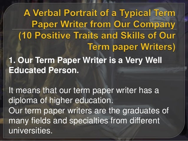 Term paper writer jobs