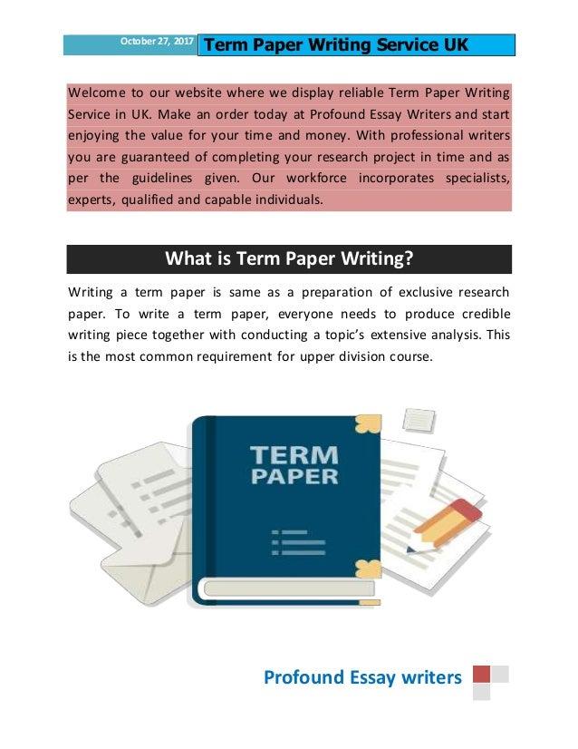 professional term paper writers websites uk