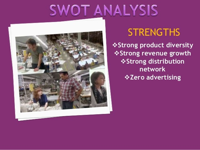 STRENGTHS  Strong product diversity  Strong revenue growth  Strong distribution  network  Zero advertising