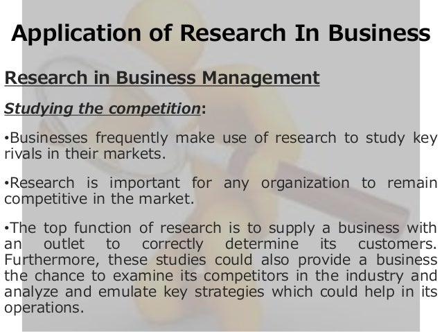 application of research
