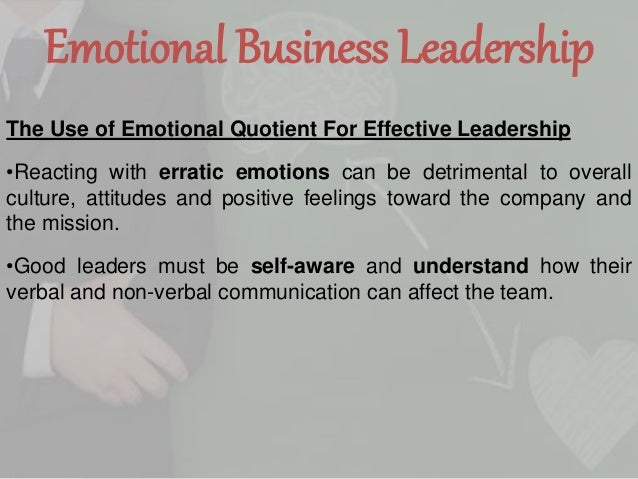 emotional intelligence quotient essay Emotional intelligence, or ei, describes an ability or capacity to perceive, assess,  and  eq, or emotional quotient, is how one measures emotional intelligence.