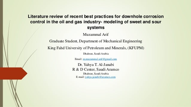 corrosion control in the oil and gas industry pdf