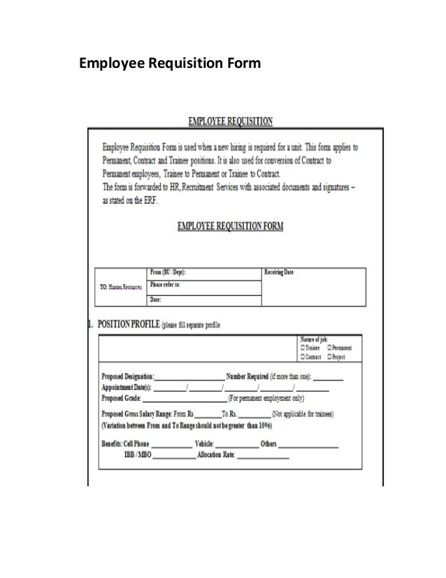 Part Requisition Form Employee Requisition Form Employee Directory