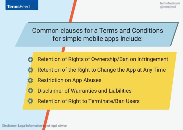 Terms & Conditions for mobile apps (iOS, Android, Windows)
